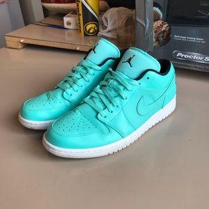 7fb5d2429d1f ... coupon jordan shoes nike air jordan 1 low hyper turquoise 81751 da0ff